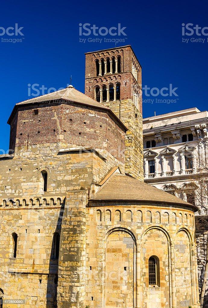 Santo Stefano church in Genoa - Italy stock photo