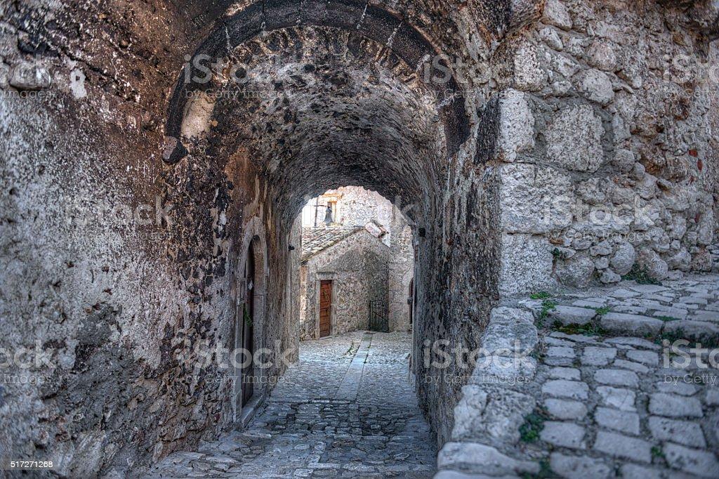 Santo Stefano di Sessanio Village, Abruzzo, L'Aquila stock photo