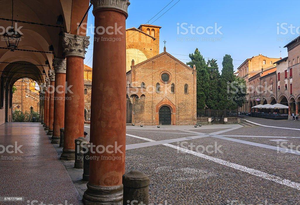 Santo stefano Square - bologna, italy stock photo