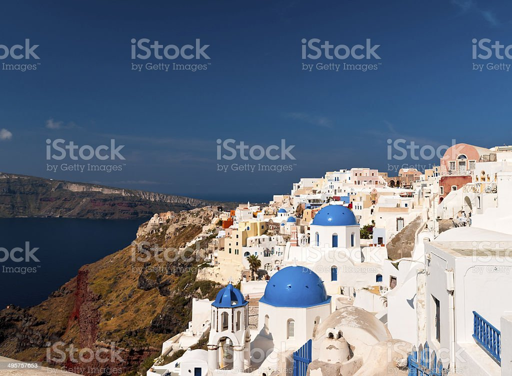 Santorini architecture stock photo