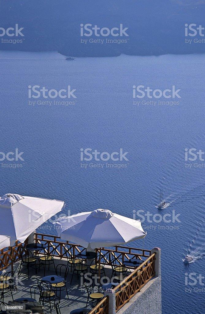 Santorini Balcony royalty-free stock photo