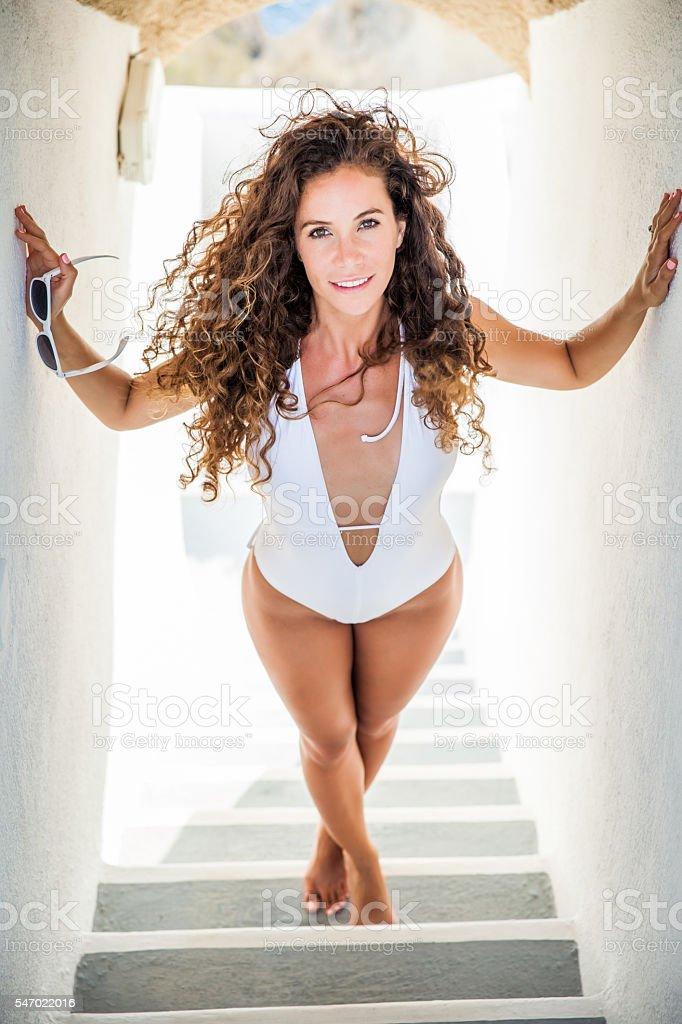 Santorini Beauty stock photo