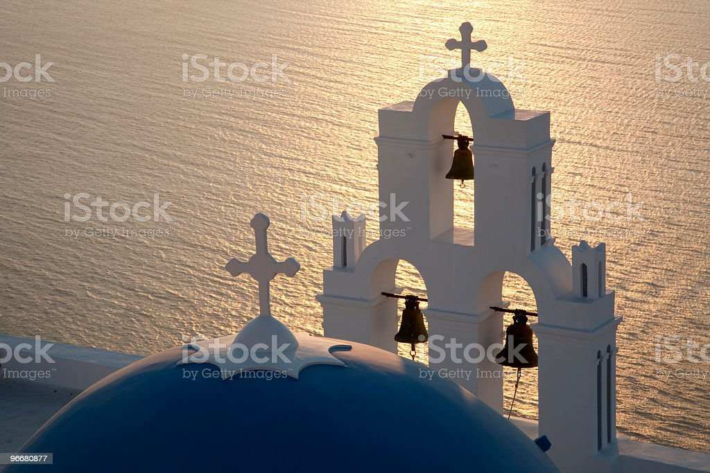 Santorini bells royalty-free stock photo