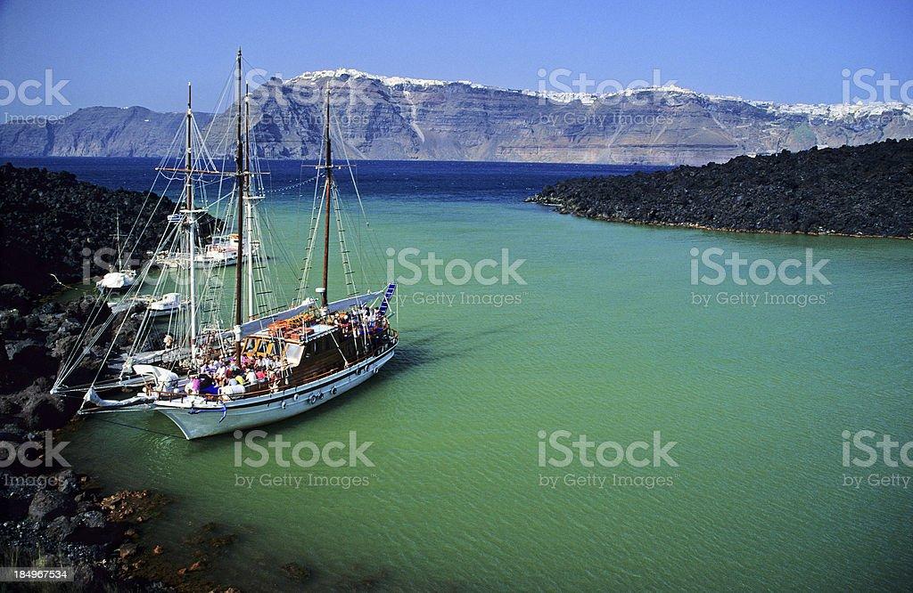 Santorini Boat Trip royalty-free stock photo