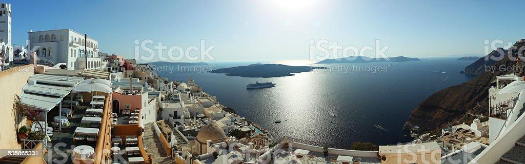 Santorini Caldera stock photo