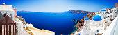 Santorini caldera with famous churches (XXXL panorama)
