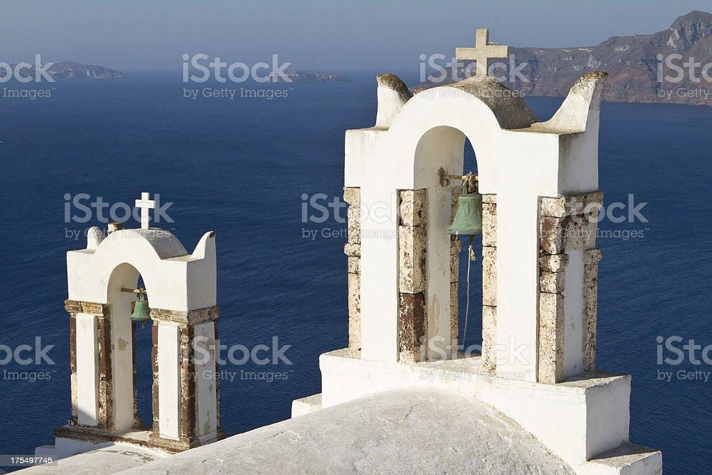Santorini classical Greek church stock photo