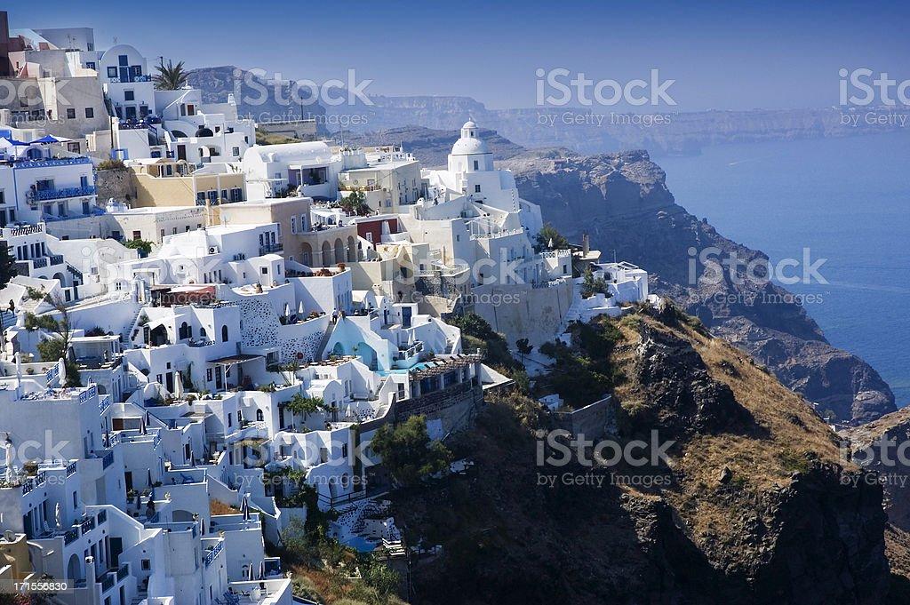 Santorini Cliffs royalty-free stock photo
