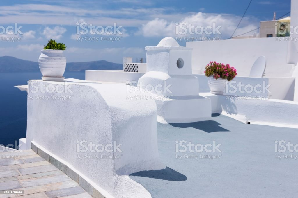 Santorini design white stock photo