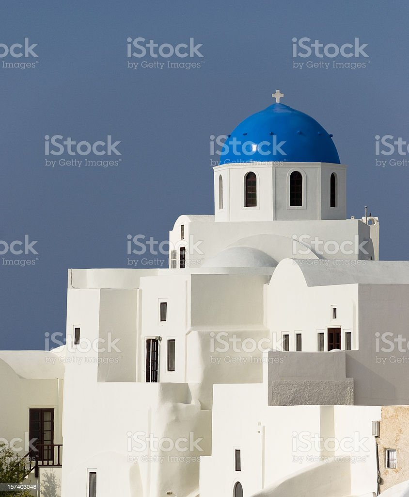 Santorini dome royalty-free stock photo