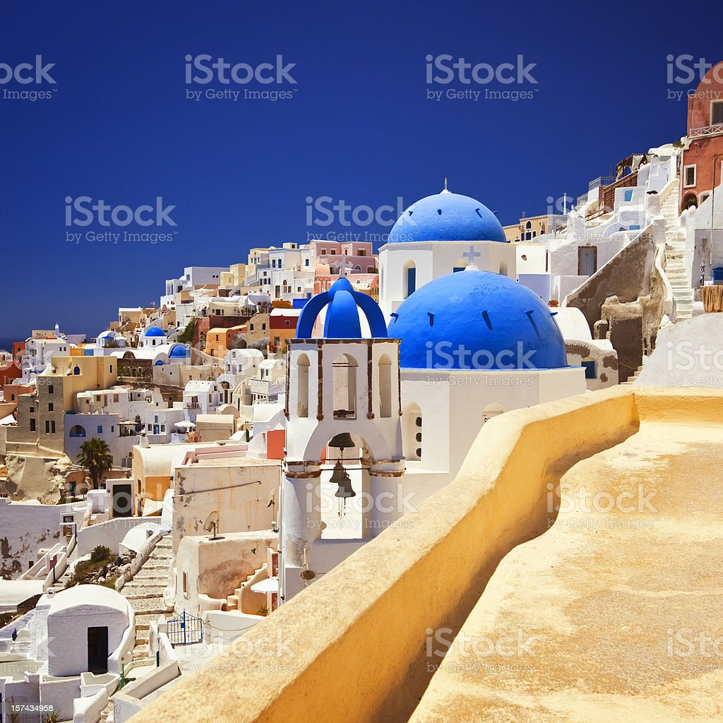 Santorini famous church royalty-free stock photo