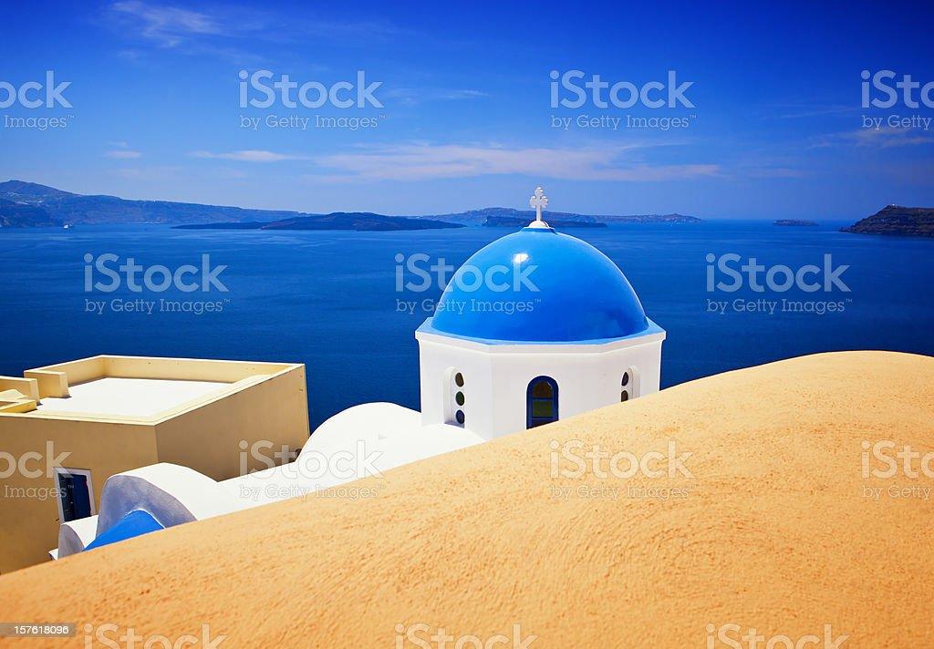 Santorini famous church royalty-free stock photo