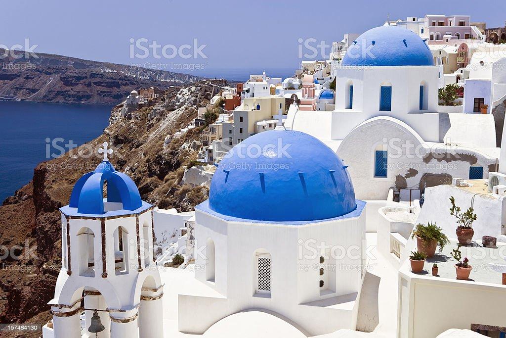 Santorini famous churches royalty-free stock photo