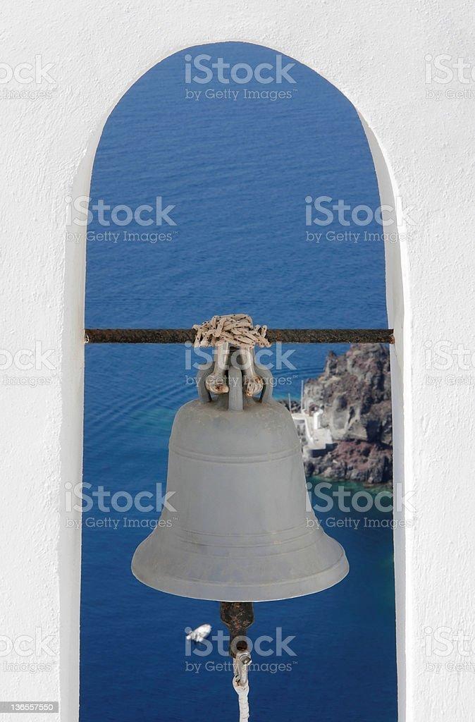 Santorin, Griechenland Bell Lizenzfreies stock-foto