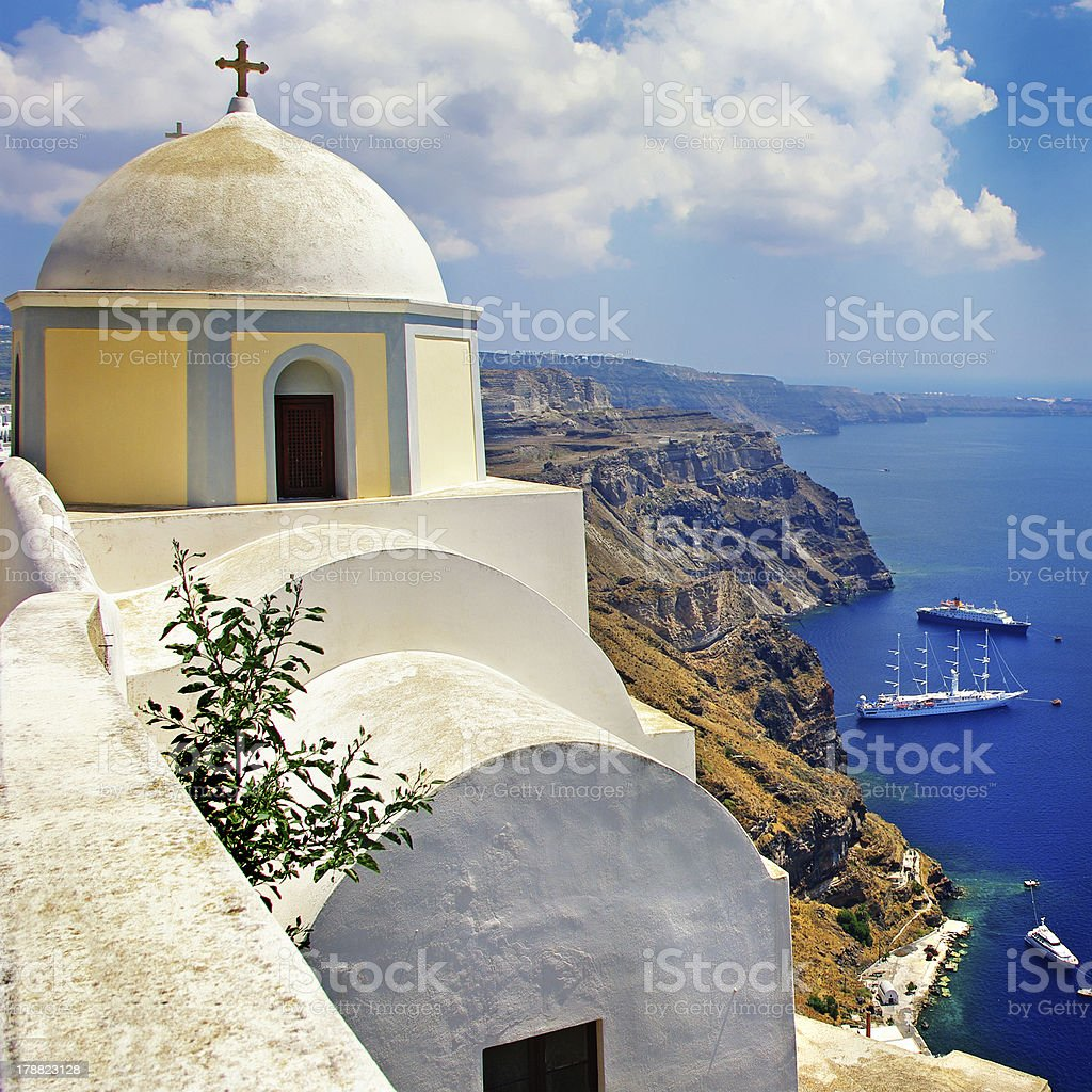 Santorini. Greek holidays royalty-free stock photo