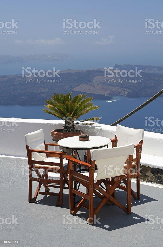 Santorini Hotel royalty-free stock photo