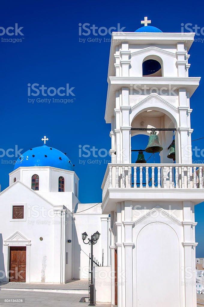 Santorini imerovigli Church stock photo