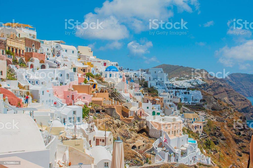 Santorini Island Greece stock photo