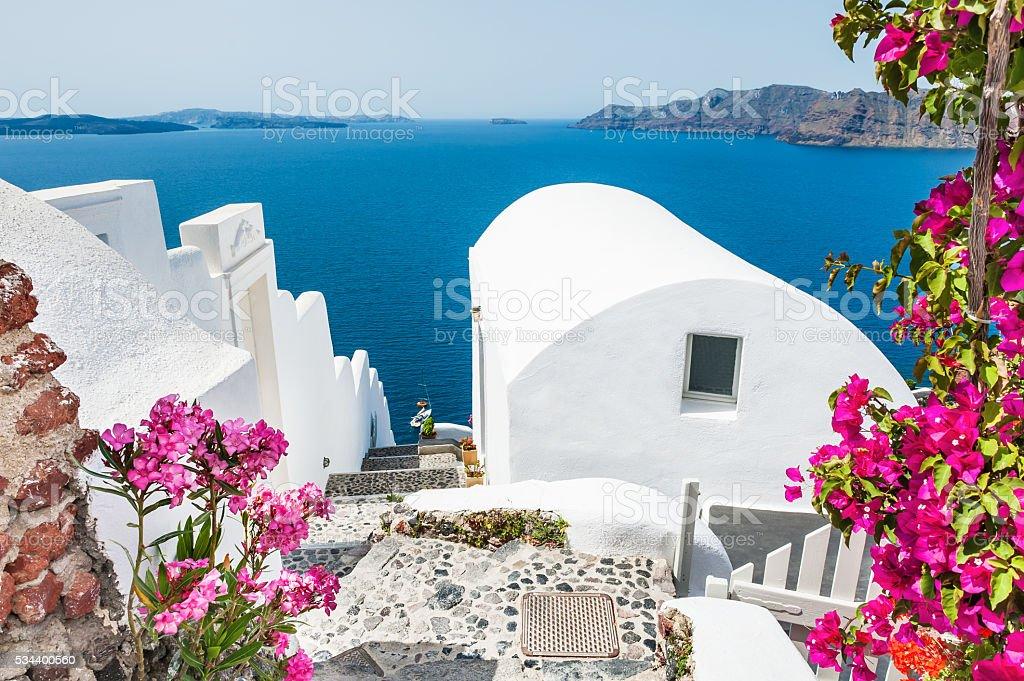 Santorini island, Greece. stock photo