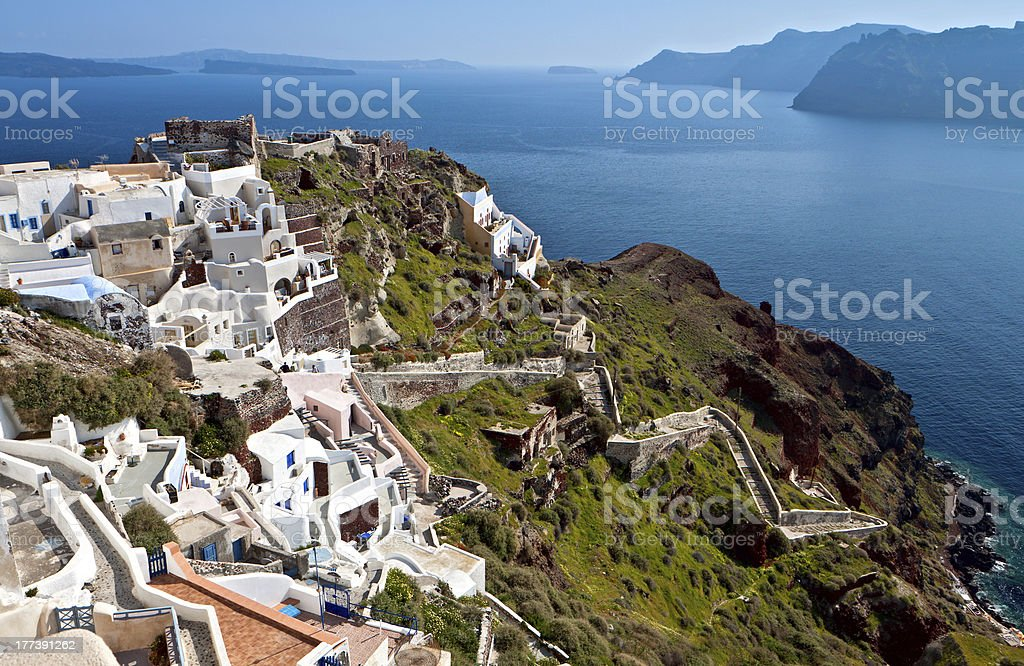 Santorini island in Greece stock photo