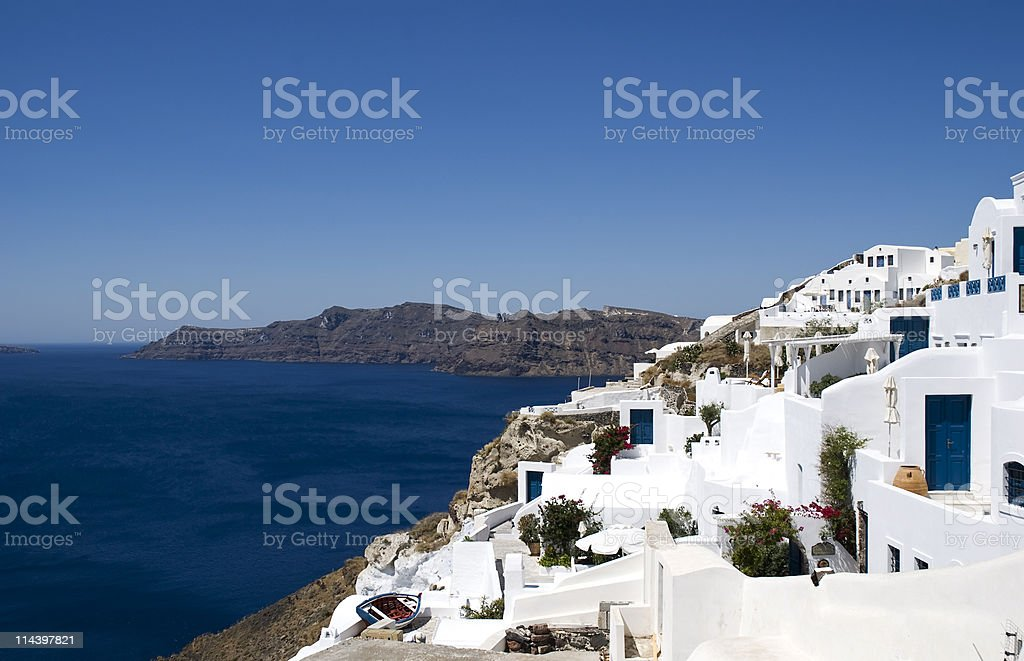 Santorini island royalty-free stock photo
