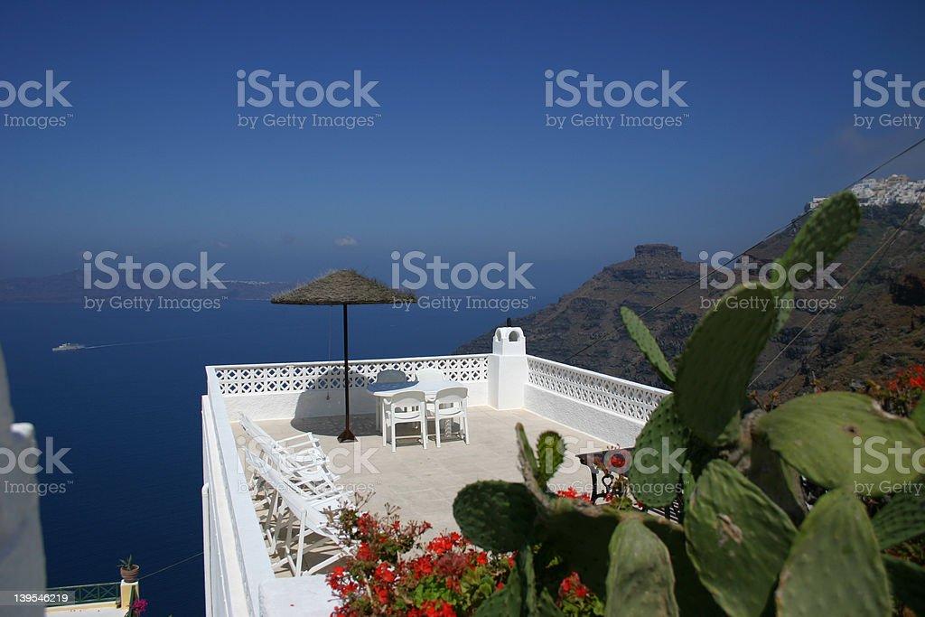 santorini island view2 royalty-free stock photo