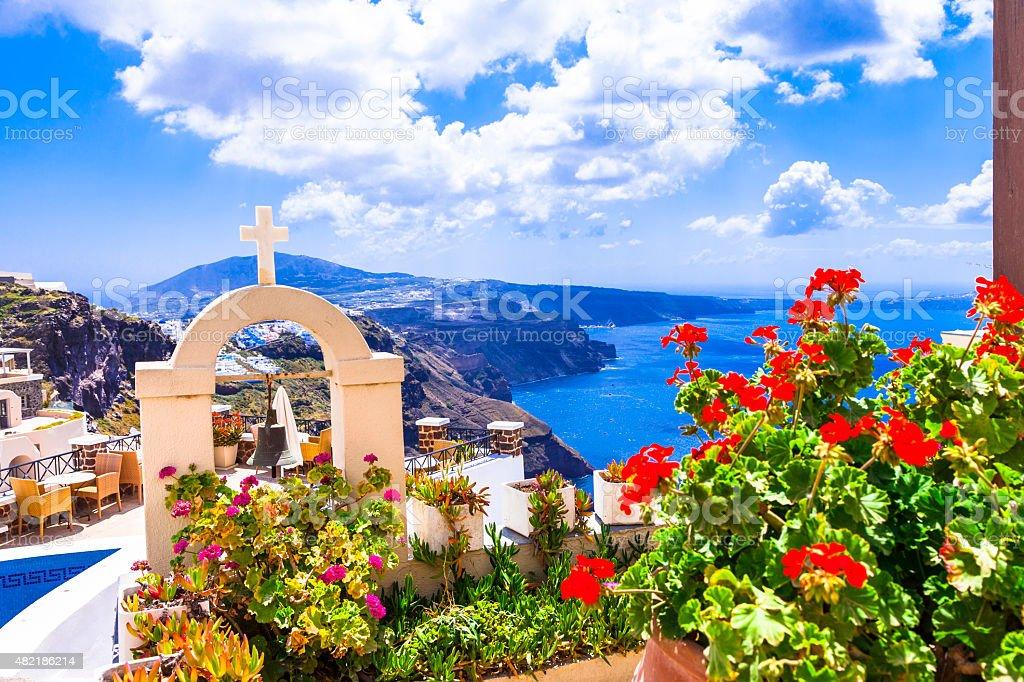 Santorini Island,Cyclades,Greece. stock photo