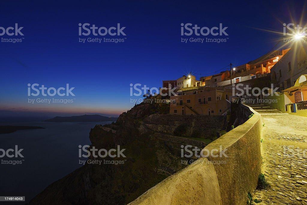 Santorini Night, Greece royalty-free stock photo