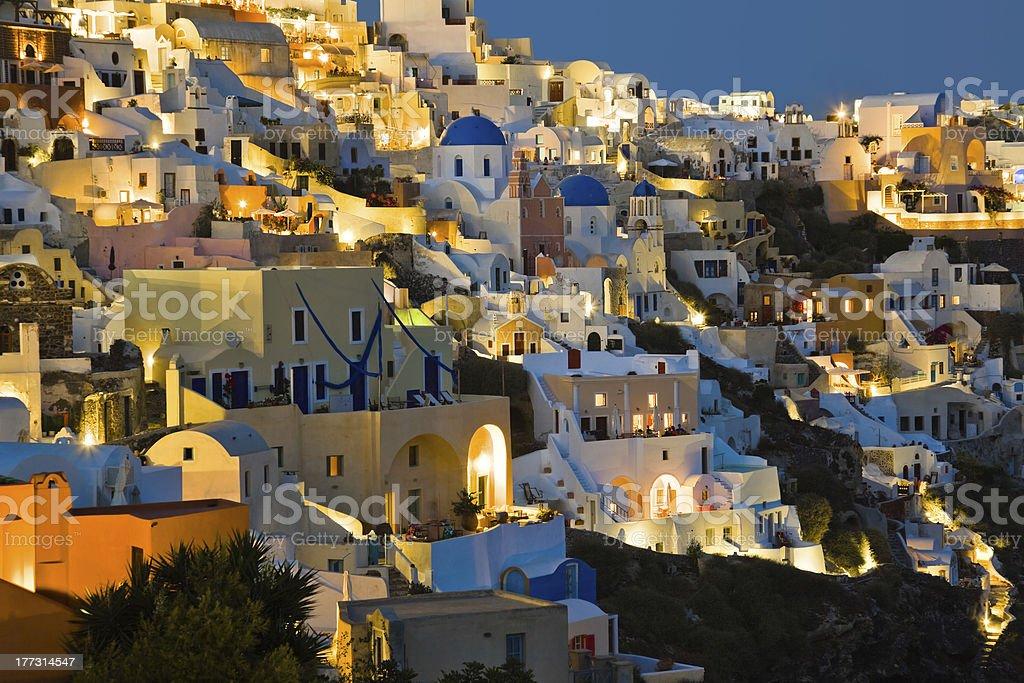 Santorini night (Oia) - Greece royalty-free stock photo
