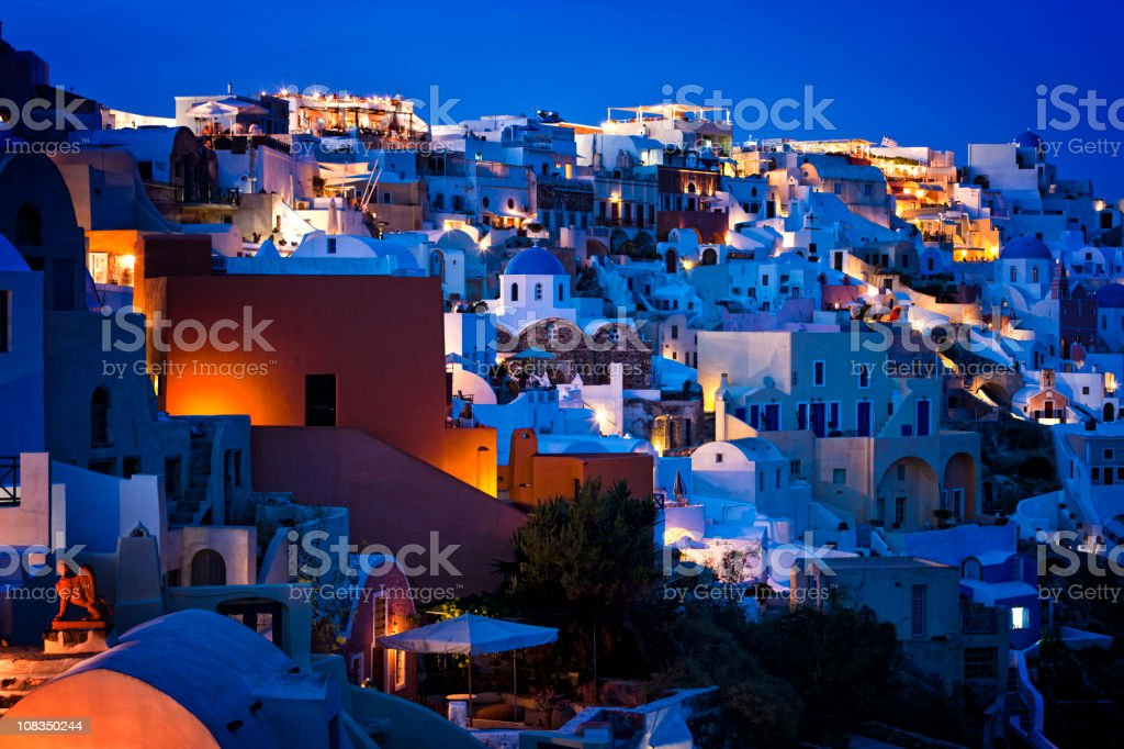 Santorini Oia village, Greece royalty-free stock photo