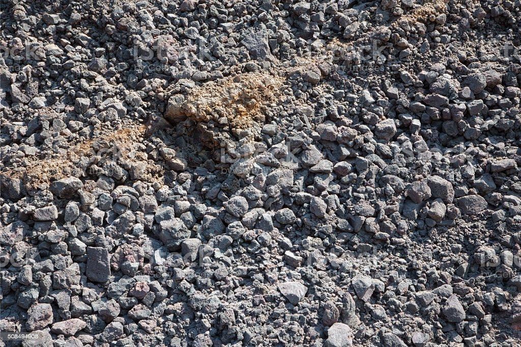 Santorini - Red gray pumice layers background stock photo
