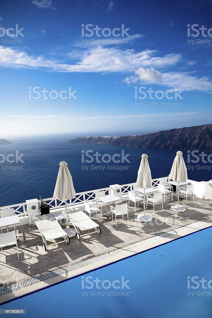 santorini relaxation royalty-free stock photo