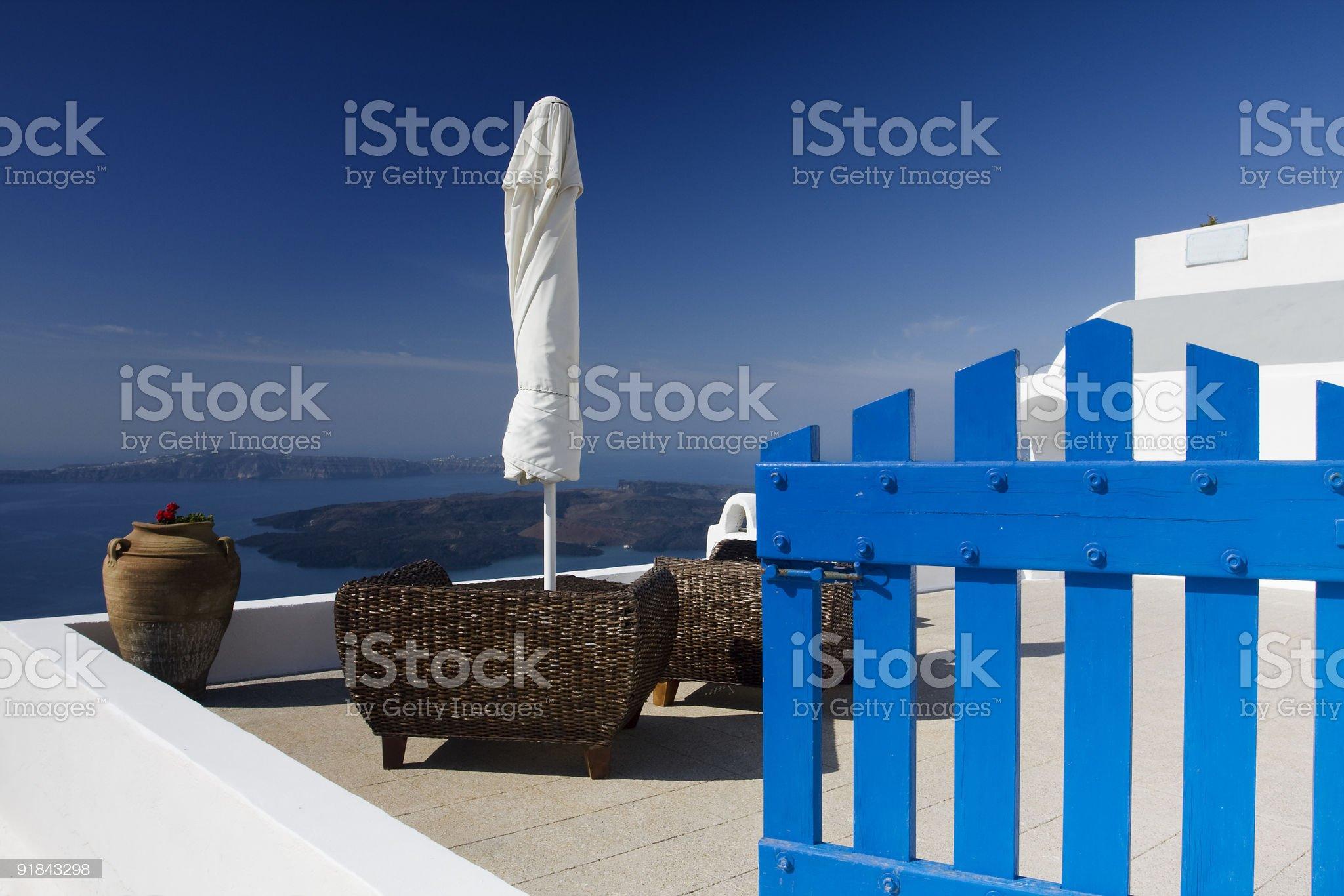 Santorini roof royalty-free stock photo
