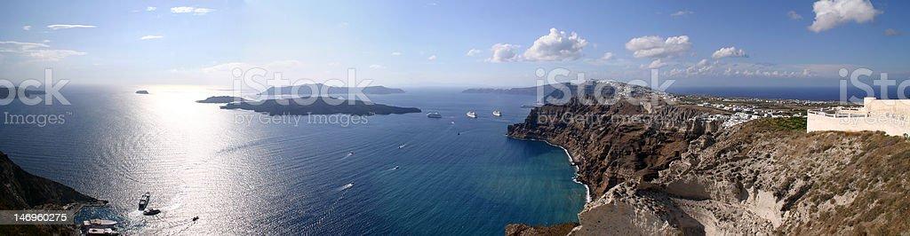 Santorini - Sea Panorama stock photo