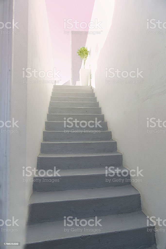 Santorini staircase (XXXL size) royalty-free stock photo
