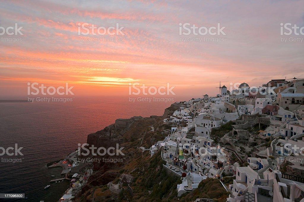 Santorini sundown stock photo