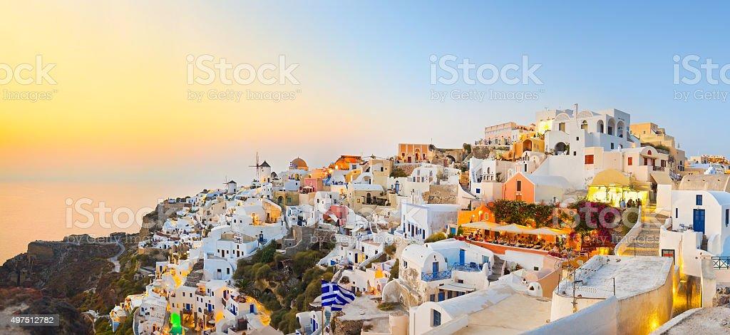 Santorini sunset (Oia) - Greece stock photo
