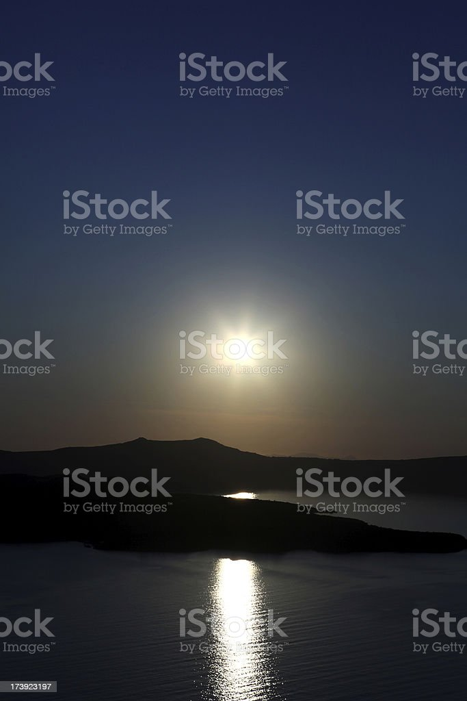 Santorini Sunset royalty-free stock photo