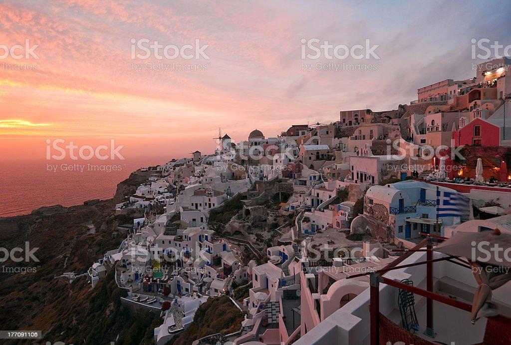 Santorini sunset royalty-free stock photo