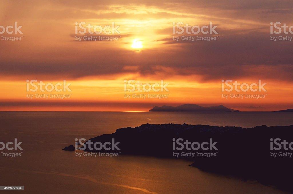 Santorini Sunset stock photo