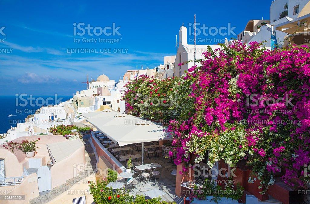 Santorini - The Oia willage stock photo