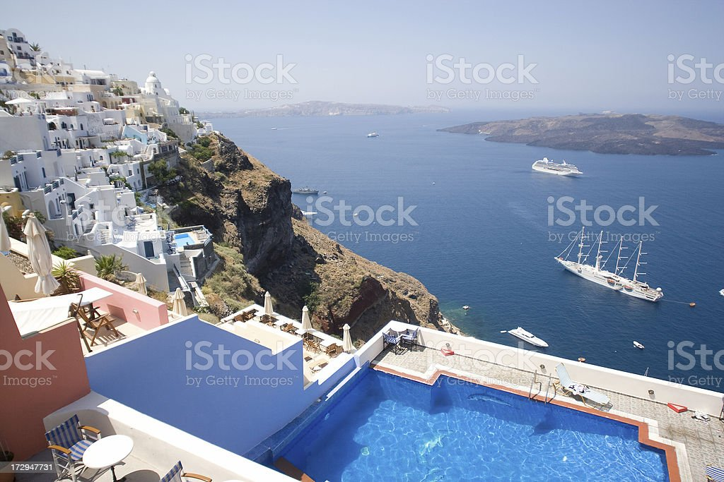 Santorini, Vacations in Greece royalty-free stock photo