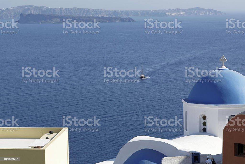 Santorini view (size XXXL) royalty-free stock photo