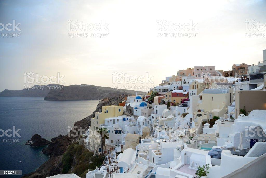 Santorini village stock photo