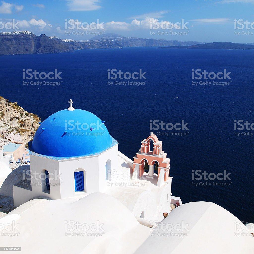 Santorini White Church royalty-free stock photo