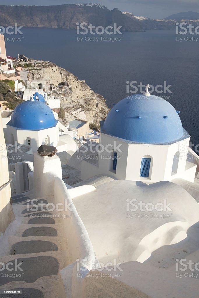 Santorini's domes royalty-free stock photo