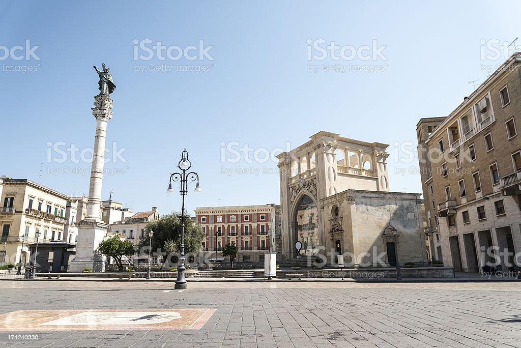 Sant'Oronzo square in Lecce, Italy stock photo