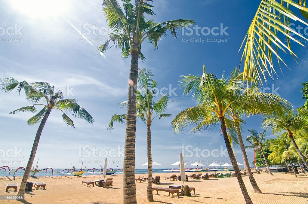Sanur Beach, Bali, Indonesia stock photo