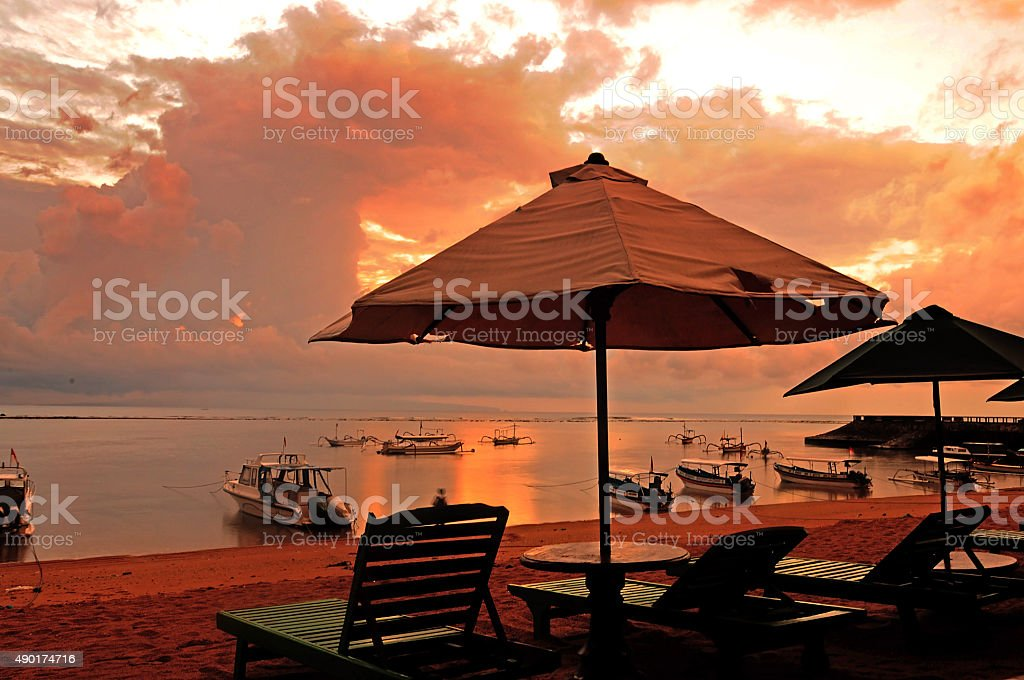 Sanur beach Indonesia stock photo