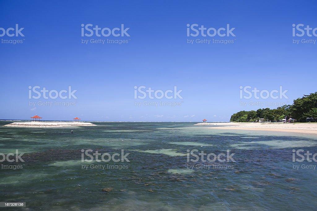 Sanur beach seascape bali island indonesia royalty-free stock photo